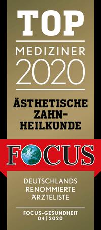Logo, Auszeichnung für Ästhetische Zahnheilkunde durch den Focus